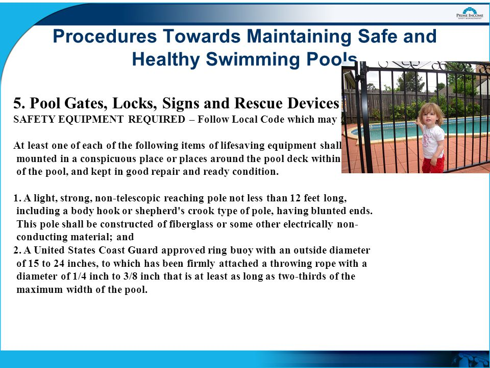 Maintaining Safe And Healthy Swimming Pools Ppt Video