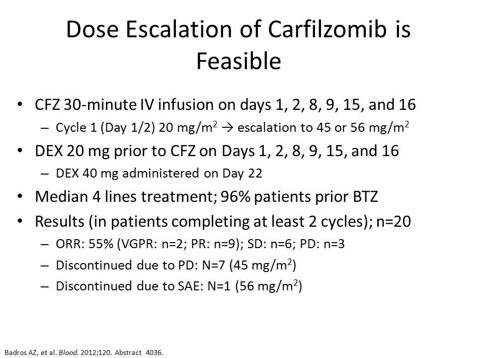Phase Ib Dose-Escalation Study (PX-171-006) of Carfilzomib ...