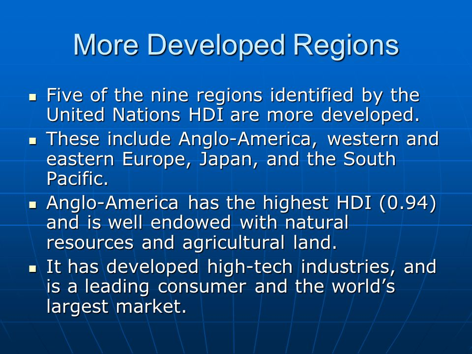 More Developed Regions