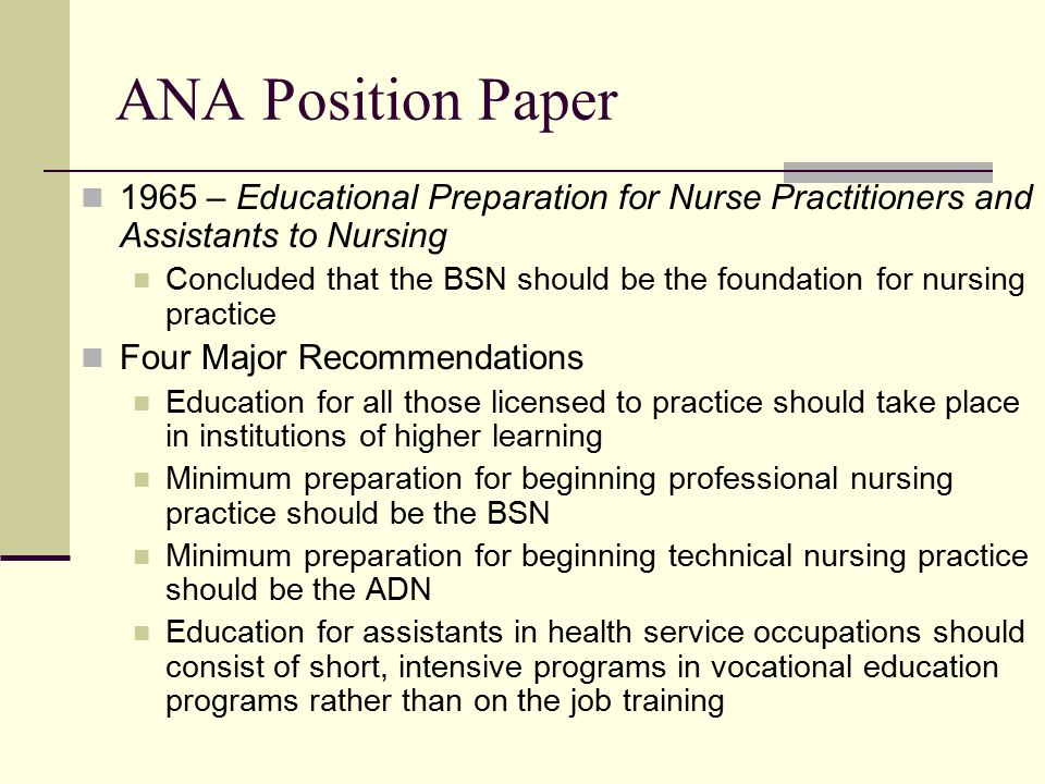 bsn educational preparation Defining quality indicators for baccalaureate  rn-to-bsn programs and offering educational opportunities to  to raise the educational preparation of diploma.