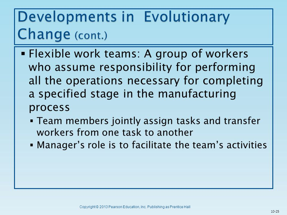Developments in Evolutionary Change (cont.)