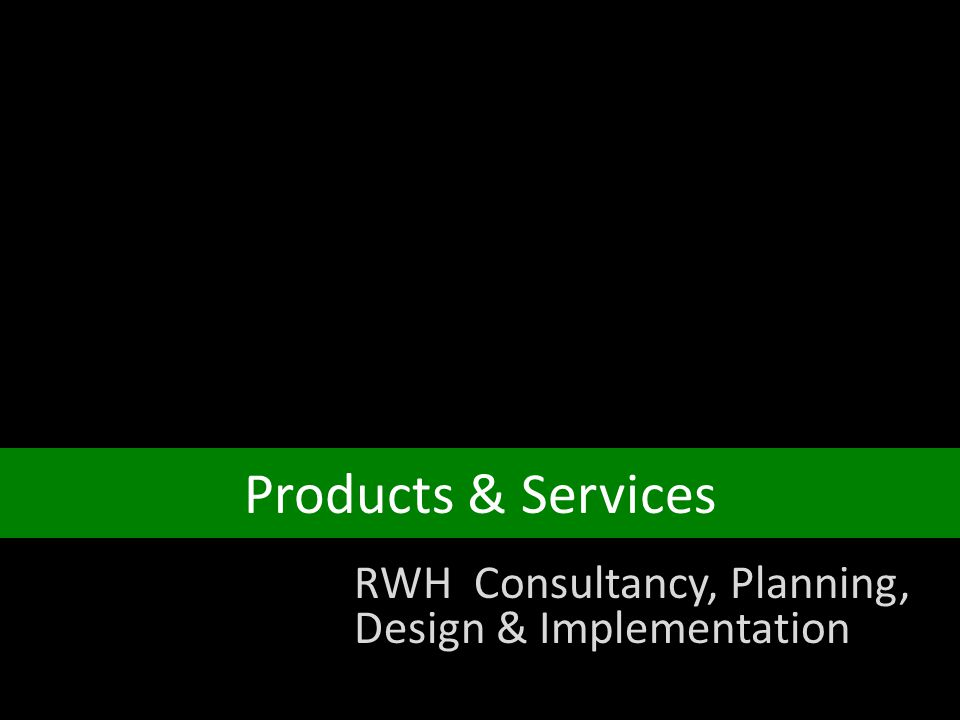 Rainwater harvesting a presentation ppt video online for Design consultancy services