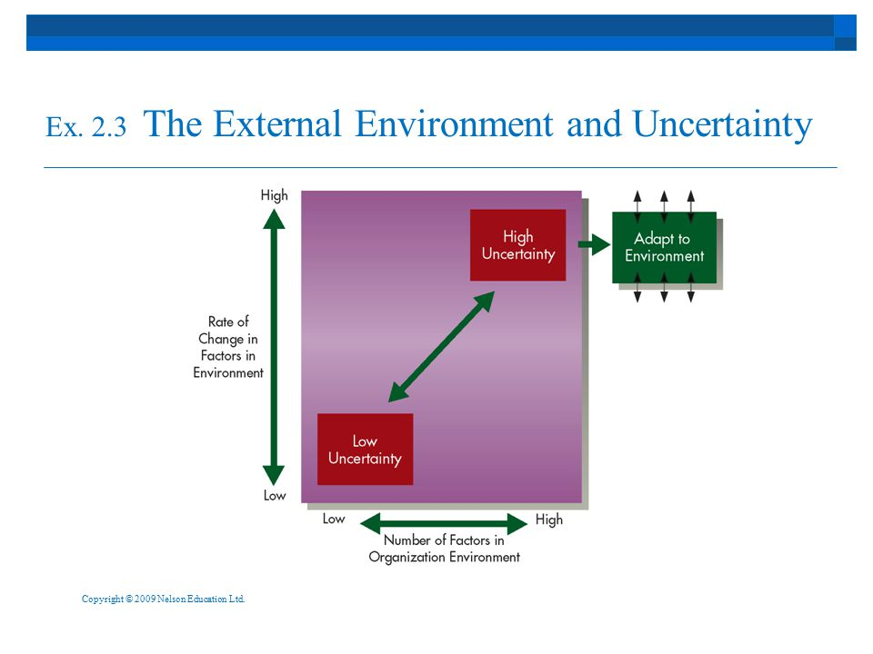 Ex. 2.3 The External Environment and Uncertainty