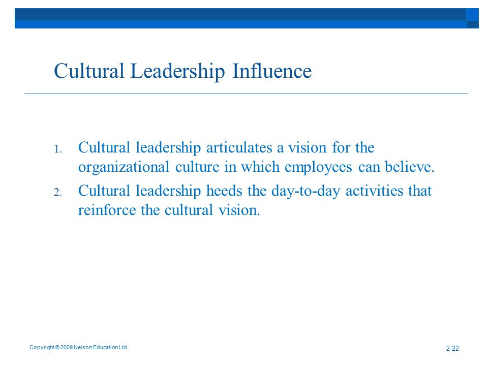 Cultural Leadership Influence