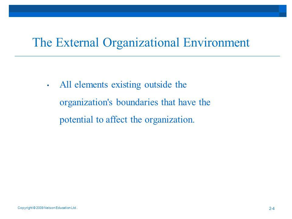 The External Organizational Environment