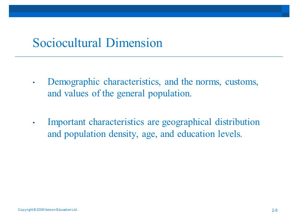 Sociocultural Dimension