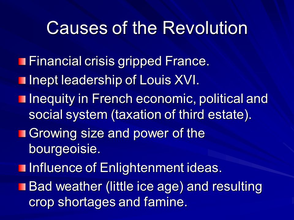 the reasons behind the french revolution of 1789 Louis xvi of france  the reasons for the couple's initial failure to have children were debated at that time, and they have continued to be debated since  convocation was one of the.