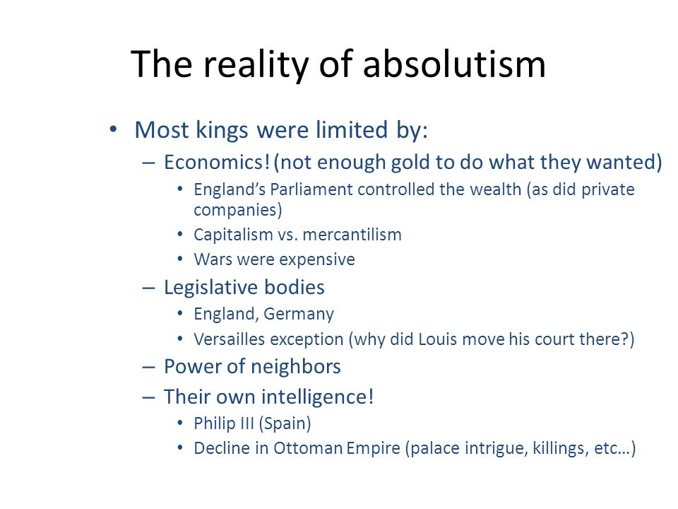 absolutism the best form of government Best answer: a monarchy in whatever form provides the stability to a country that democracy in many situations is unable to provide in a monarchy the successor is bred from birth to fullfill his or her position rather than with an elected head of state who may have considerably less experience.