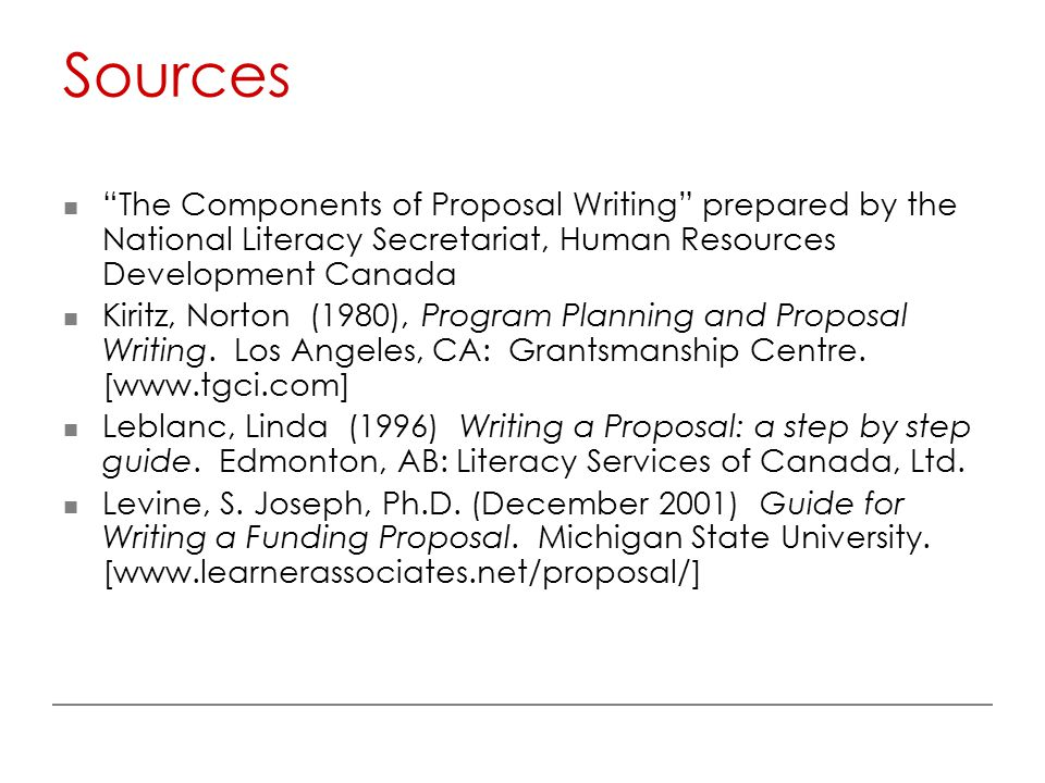proposal writting Advice to proposal writers the following steps are provided to help the proposal writer understand the steps that go into preparing a proposal and to share some advice that others have found useful.