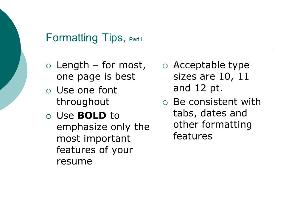 Ideal Resume Length  WowcircleTk
