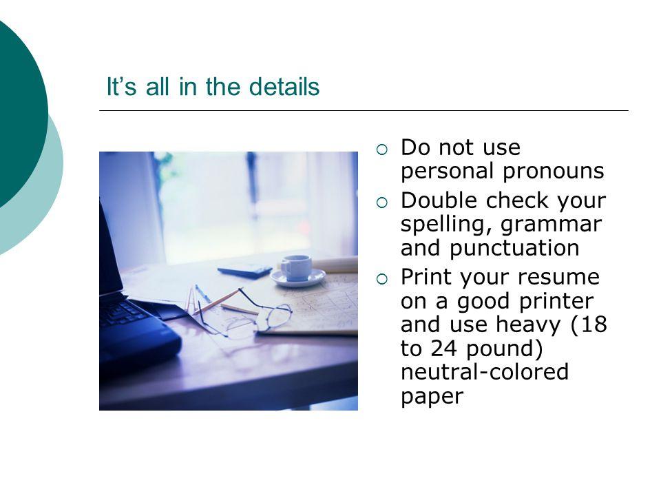 resume writing workshop ppt