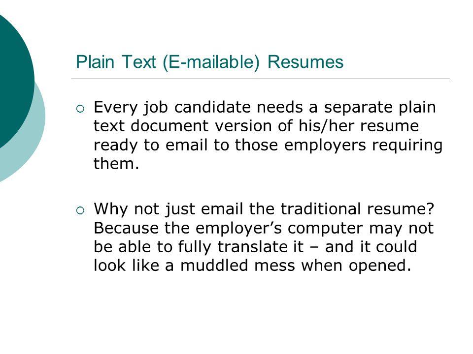 plain resumes
