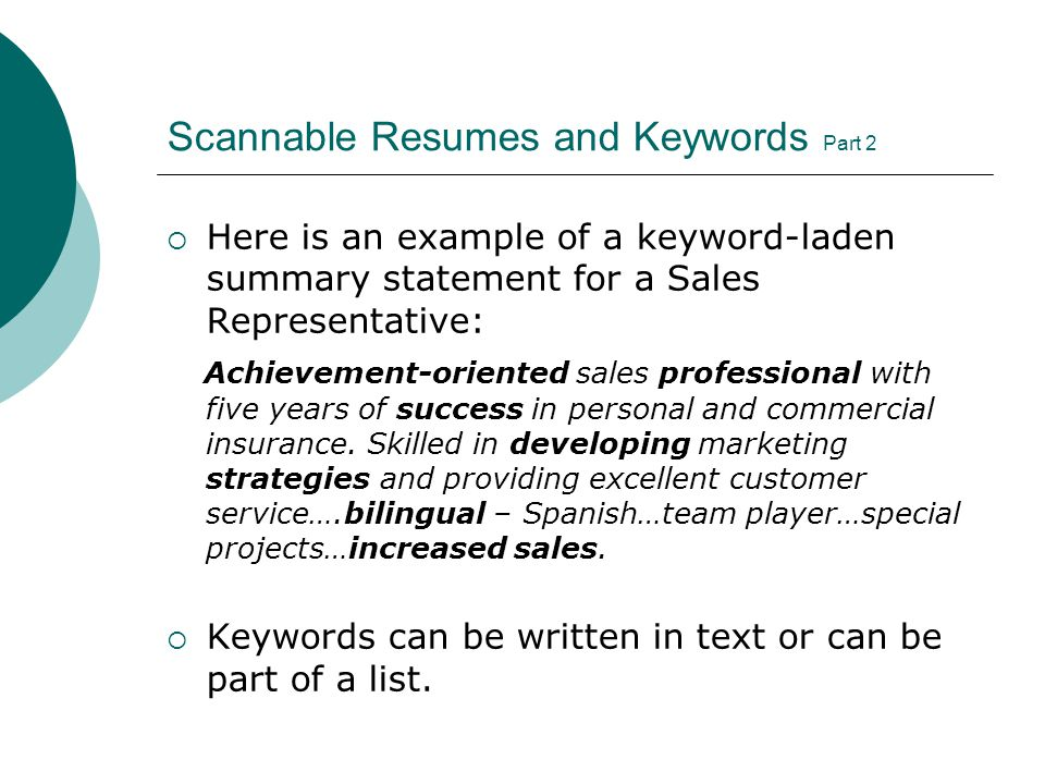 39 Scannable ...  What Is A Scannable Resume