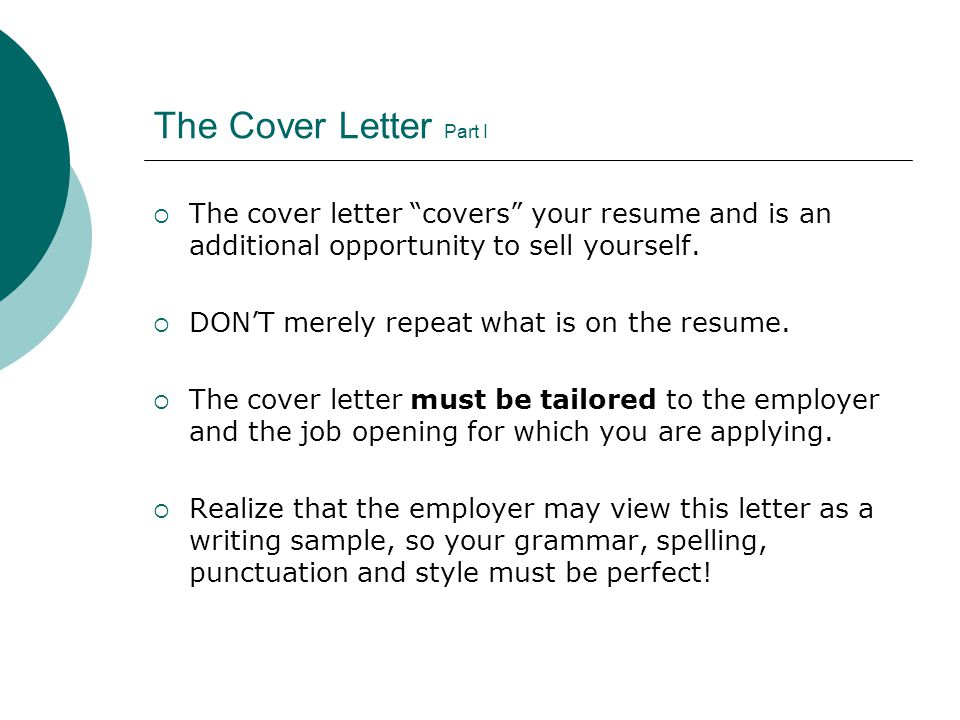 how to sell yourself in a cover letter
