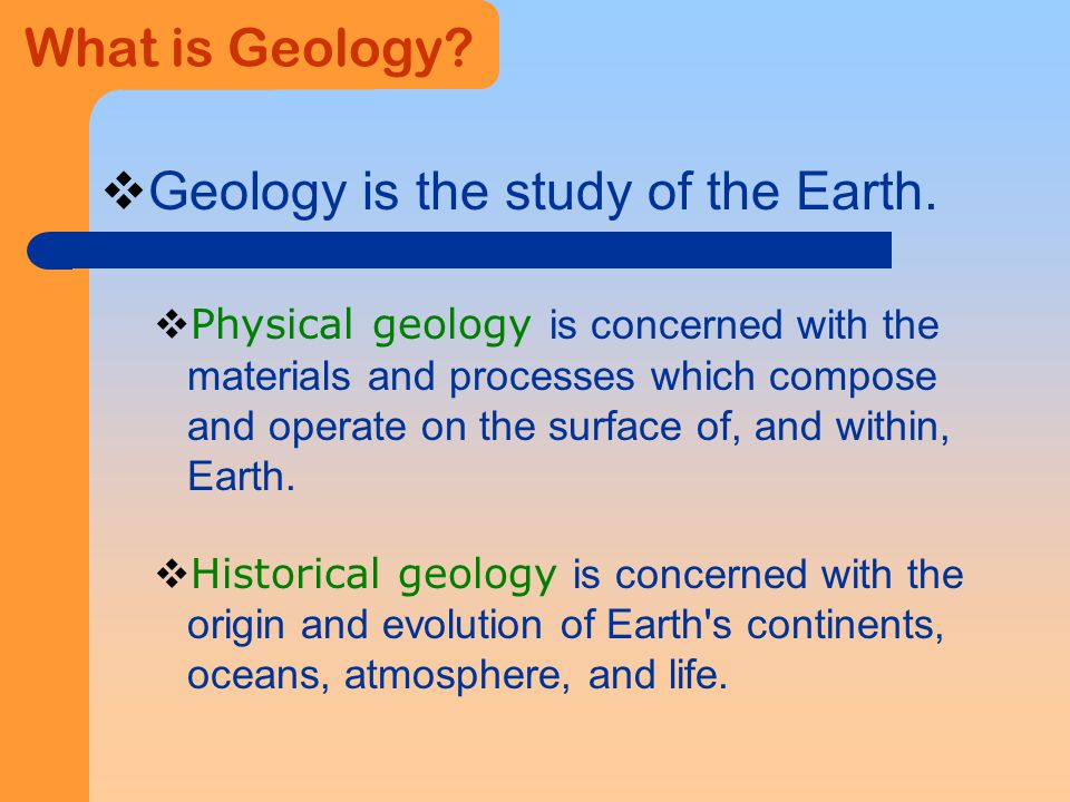 geology the study of the earth essay Start studying the scientific study of the earth learn vocabulary, terms, and more with flashcards, games, and other study tools.