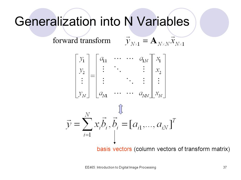 Generalization into N Variables