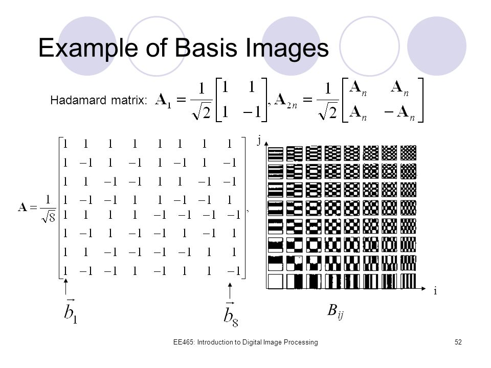 Example of Basis Images