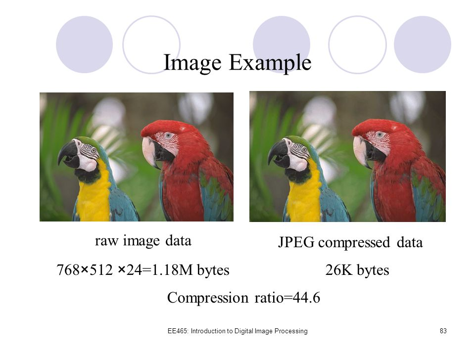 EE465: Introduction to Digital Image Processing