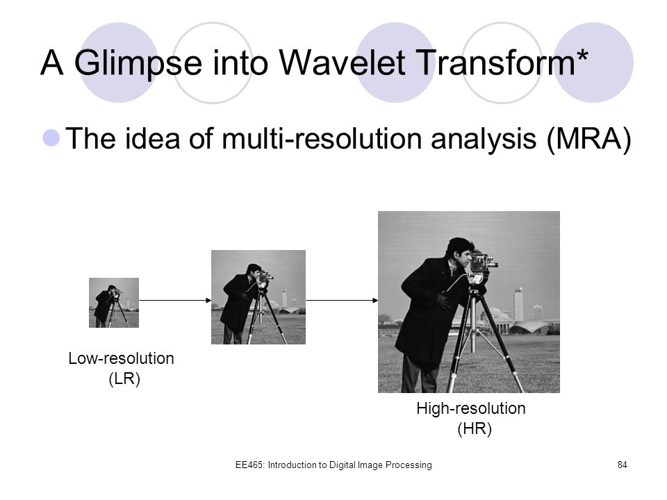 A Glimpse into Wavelet Transform*