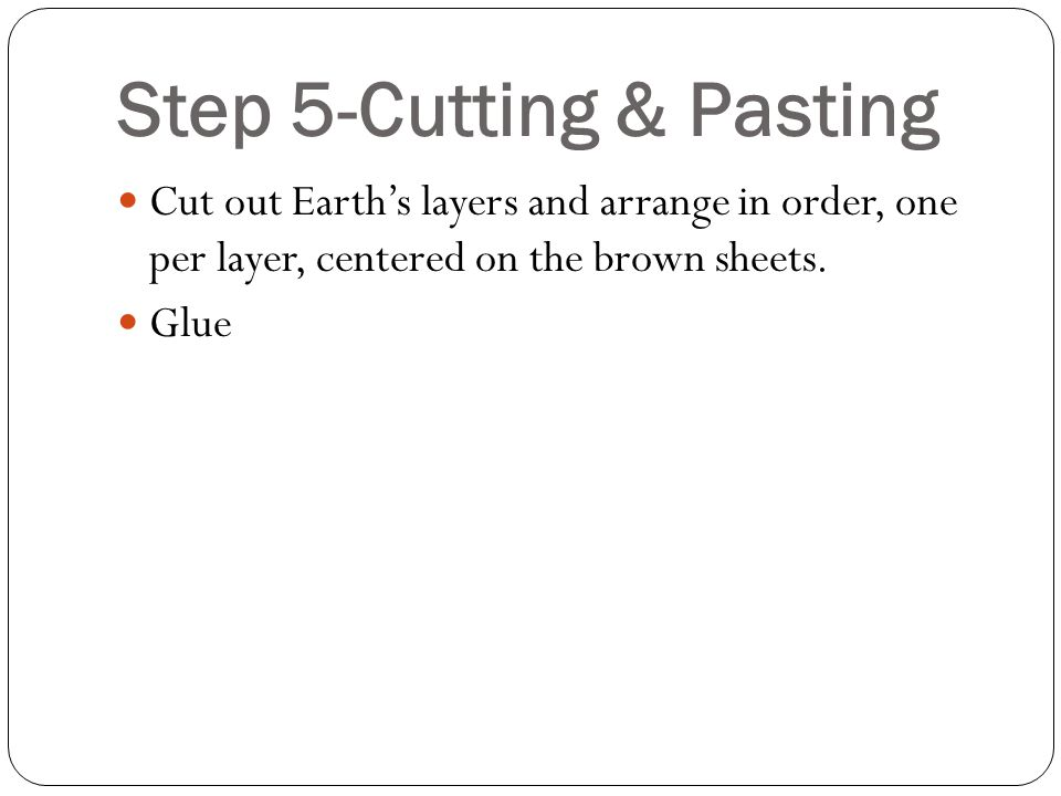 Step 5-Cutting & Pasting