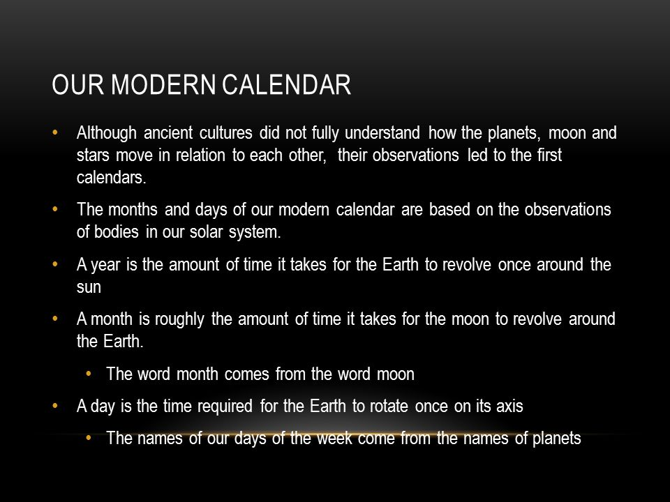 Image result for Our days are named after stars