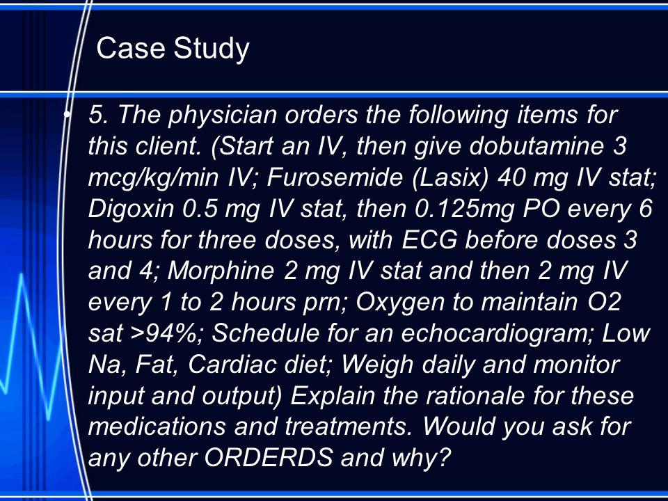 heart failure case study questions