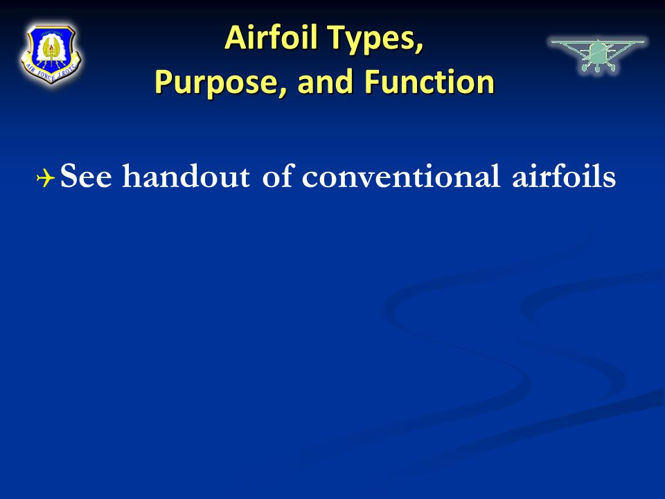 Airfoil Types, Purpose, and Function
