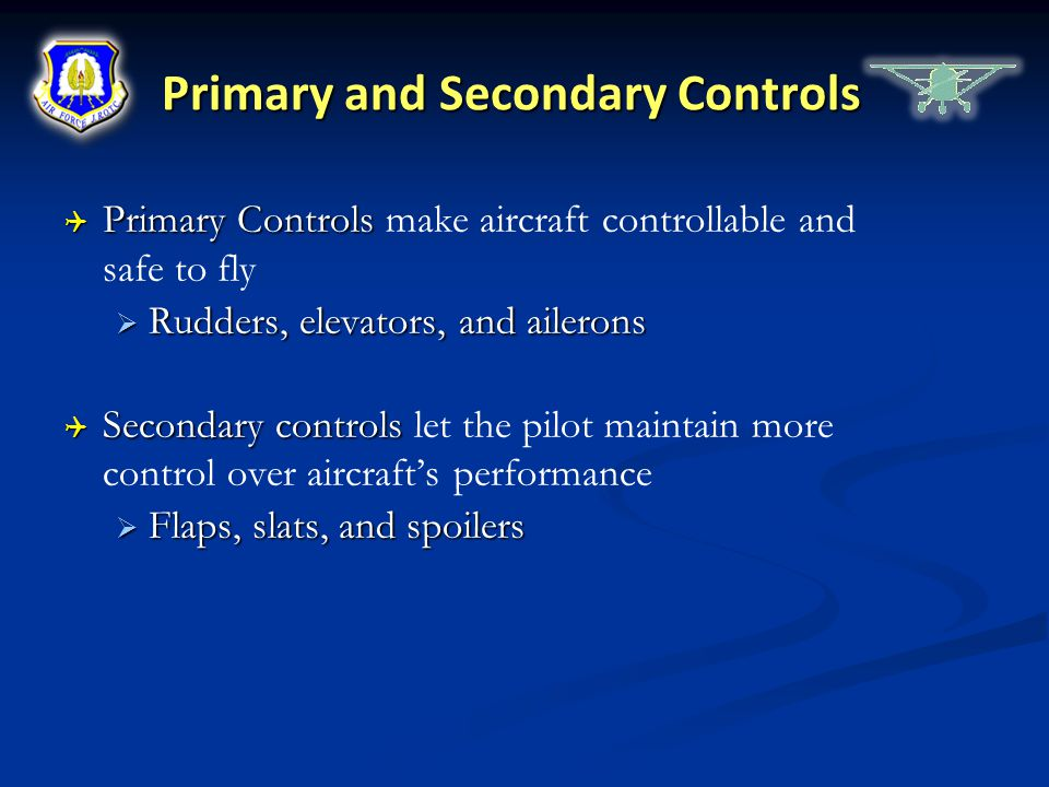 Primary and Secondary Controls