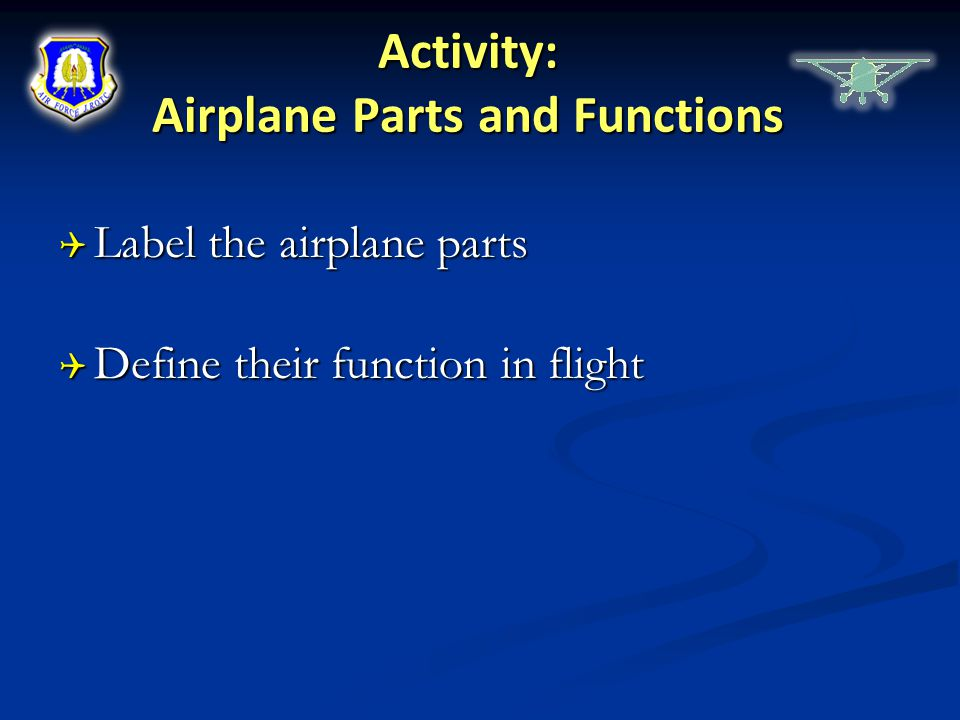 Activity: Airplane Parts and Functions