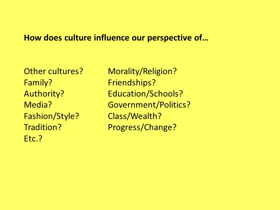 influence on culture essay