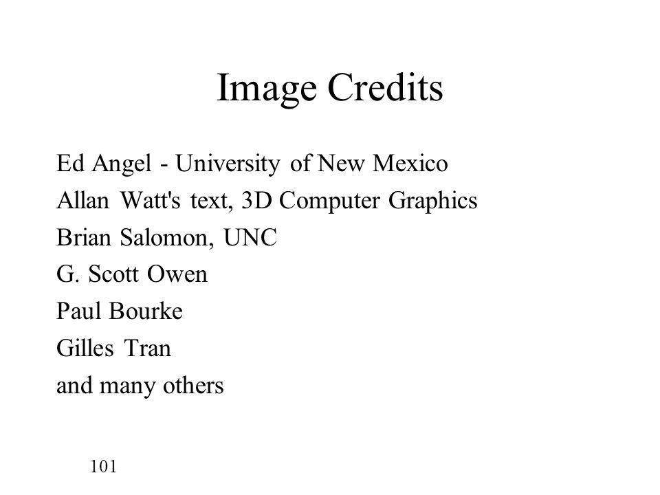 Image Credits Ed Angel - University of New Mexico