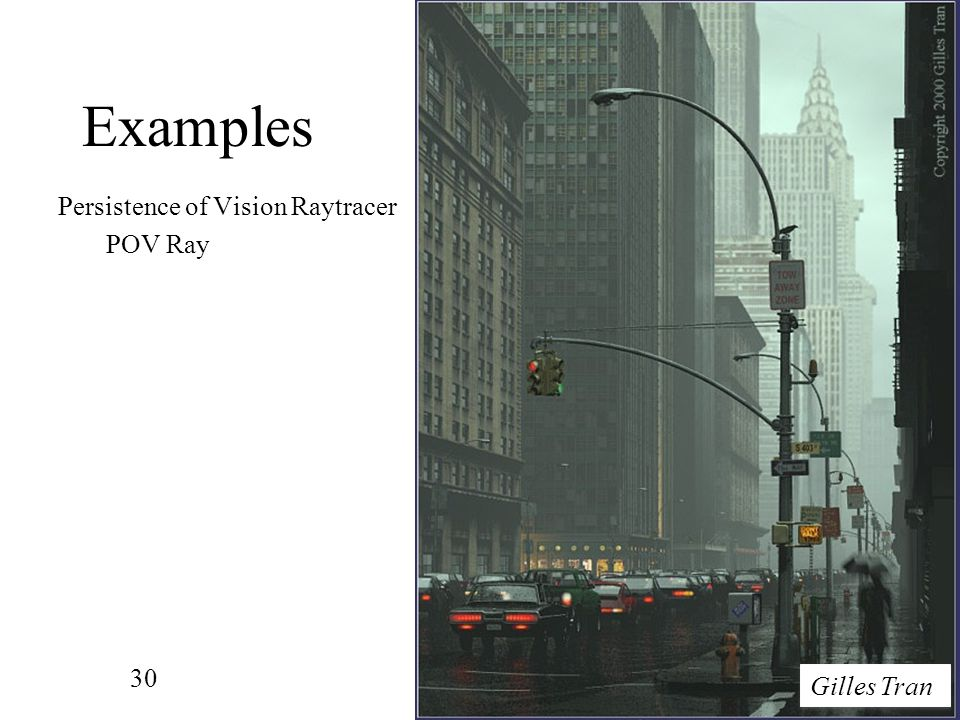 Examples Persistence of Vision Raytracer POV Ray Gilles Tran
