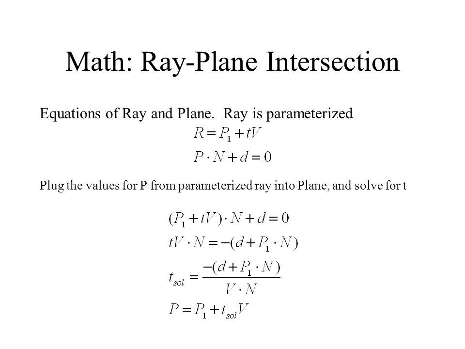 Math: Ray-Plane Intersection