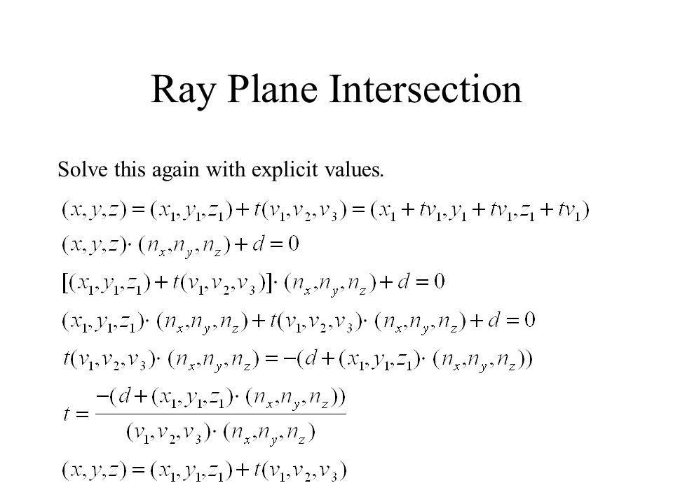 Ray Plane Intersection