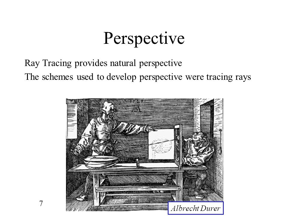Perspective Ray Tracing provides natural perspective