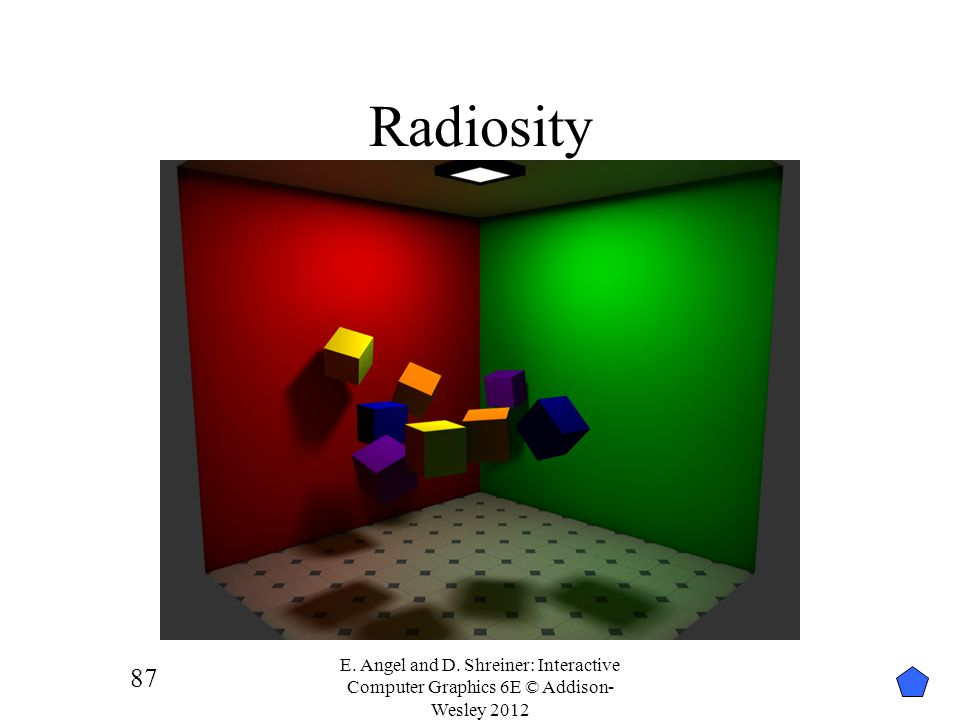 Radiosity E. Angel and D. Shreiner: Interactive Computer Graphics 6E © Addison-Wesley 2012