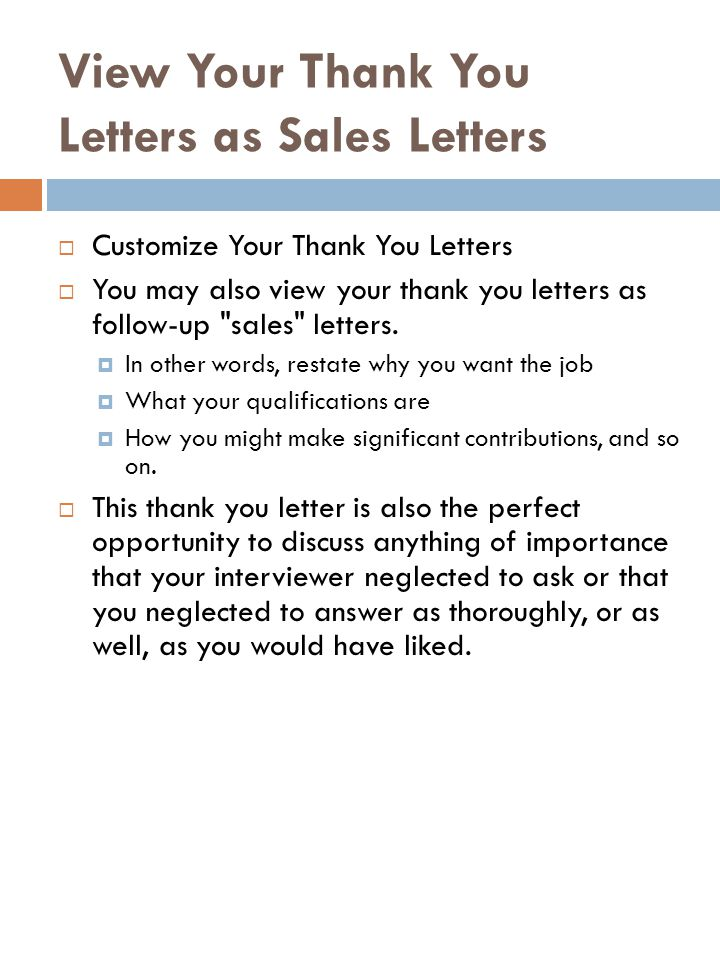 Thank you letters ppt video online download view your thank you letters as sales letters expocarfo