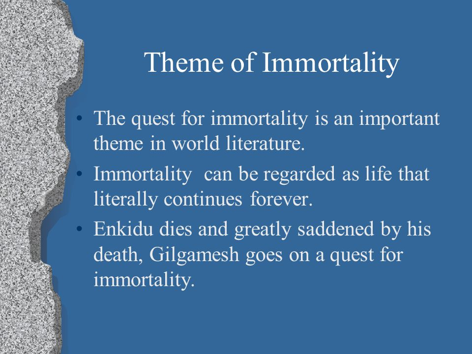 the futile quest for immortality in the epic of gilgamesh View notes - lecture 4 from reli 617 at unc week two (2) gilgamesh: a futile () quest for immortality the mediterranean world ca 1350 bc questions is it possible to draw a coherent map of the.