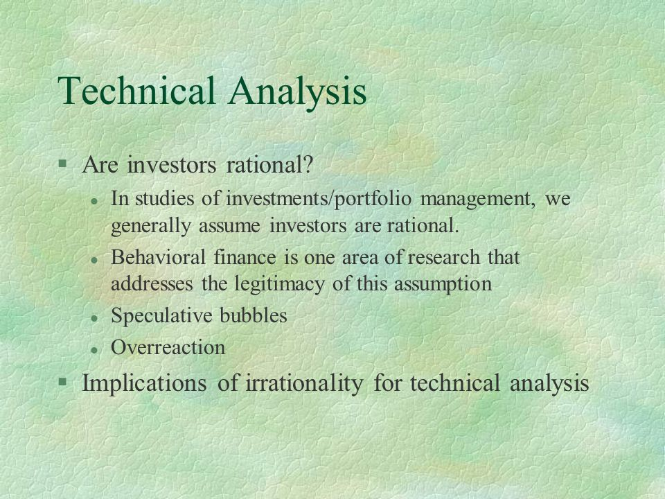 Research Paper On Technical Analysis