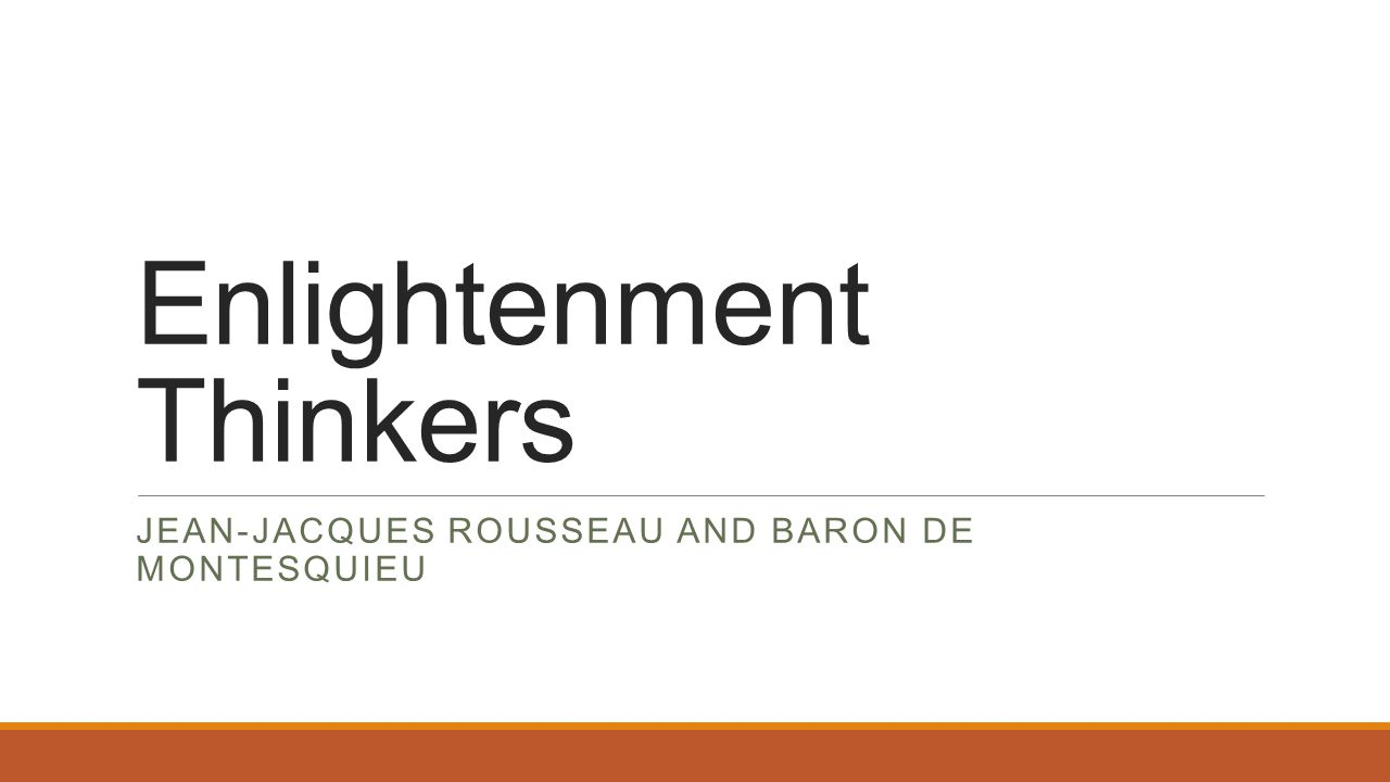 enlightment thinkers