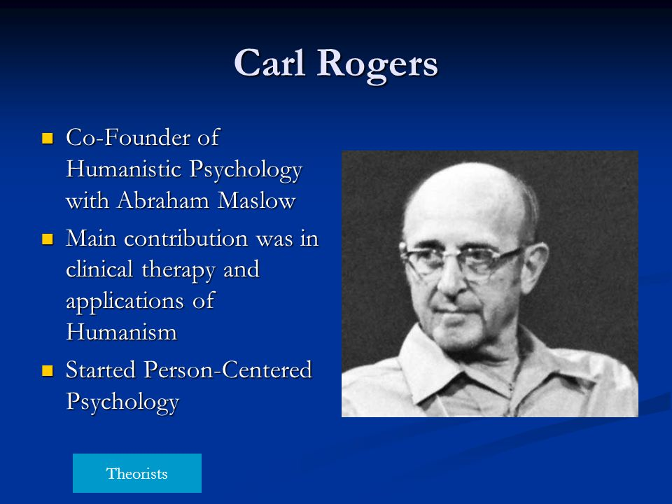 Carl Rogers Co-Founder of Humanistic Psychology with Abraham Maslow