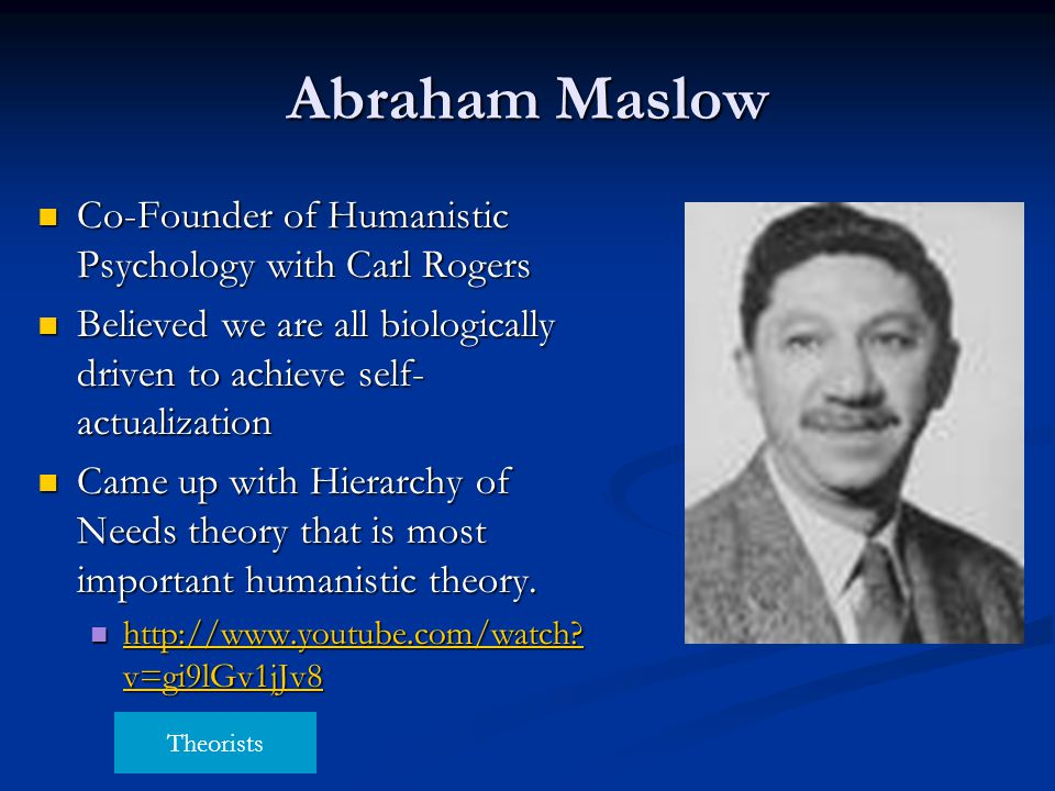 a study on the psychological theories of behaviorism psychoanalysis and humanism Behaviourism is a theory of learning that argues that all behaviours are acquired  through  even though psychoanalysis and behaviorism have made major  contributions to  biological vs humanistic approach to personality.