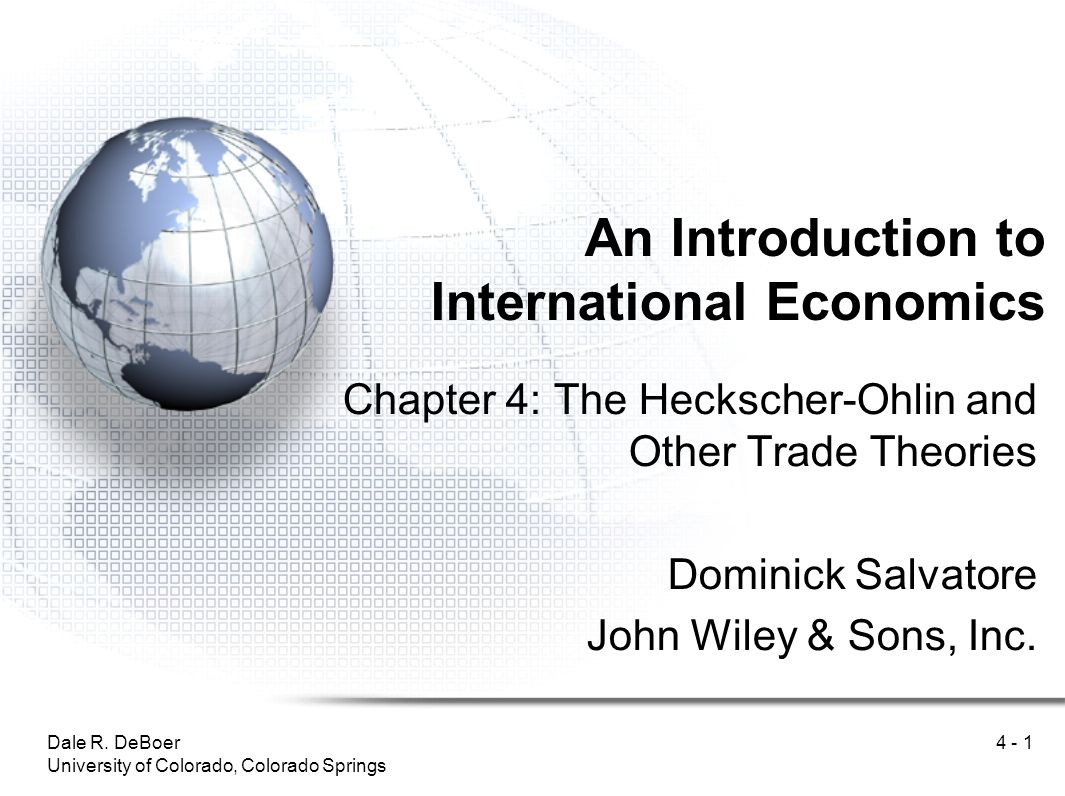 introduction to theories of international trade Introduction to theory of international trade - 3 introduction to theory of international trade international trade theory is the property of its rightful.