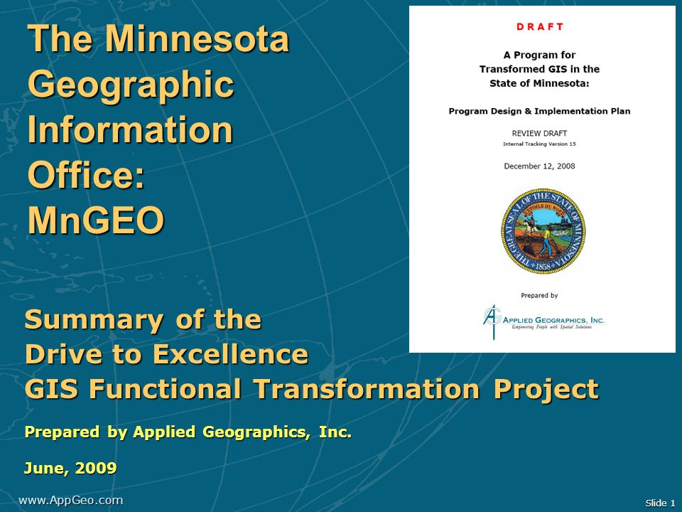 The Minnesota Geographic Information Office: MnGEO