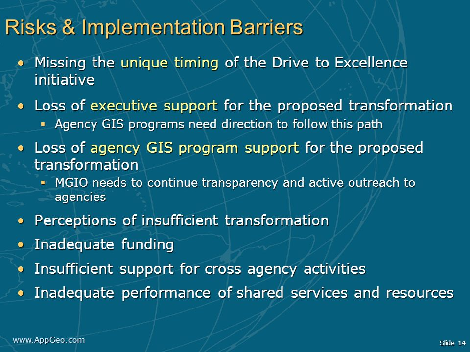 Risks & Implementation Barriers