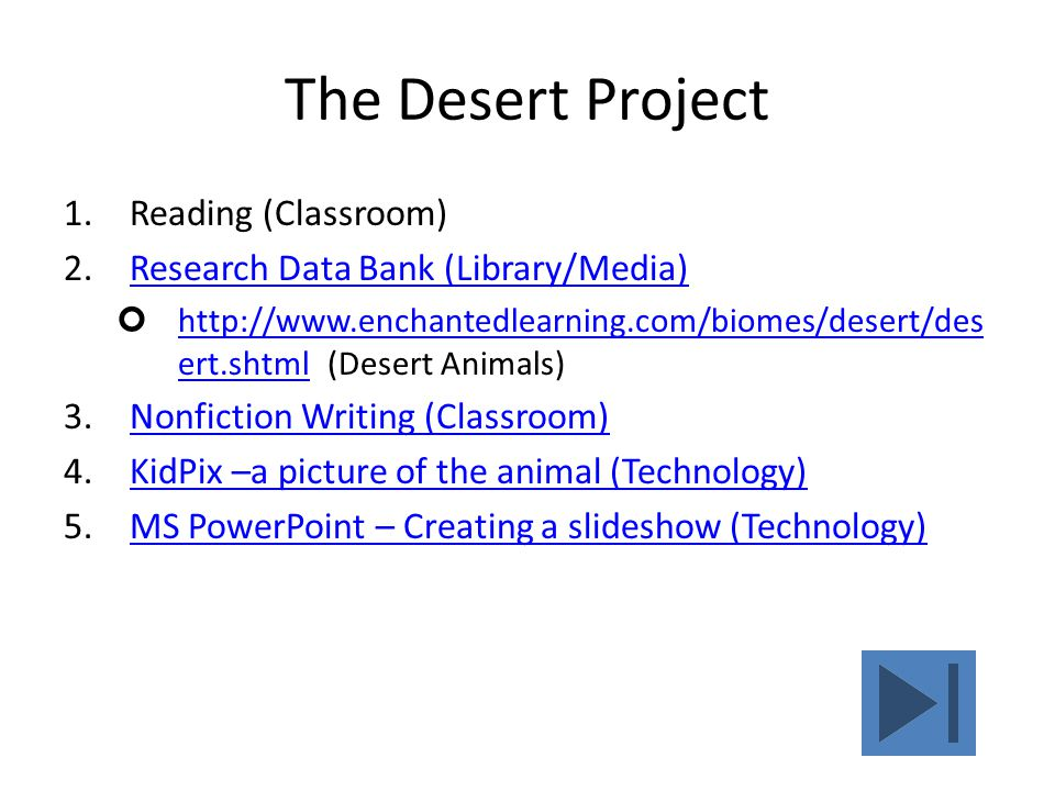 The Desert Project Reading (Classroom)