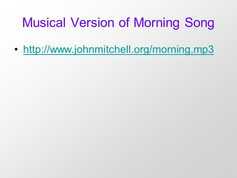 a verse analysis of morning song by sylvia plath Plath describes the birth of her daughter, frieda, in morning song, one of   from a paper on the imagery in plath's poem daddy to an interview with ted.