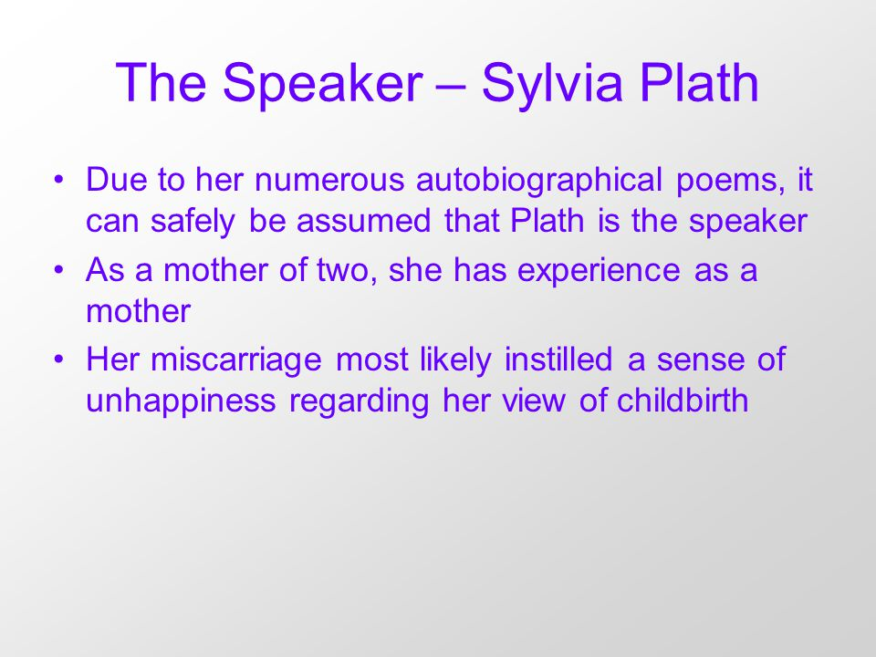 an analysis of motherhood in morning song by sylvia plath Morning song | sylvia plath | reading ygor raduy loading unsubscribe from ygor raduy i'm no more your mother than the cloud that distils a mirror to reflect.