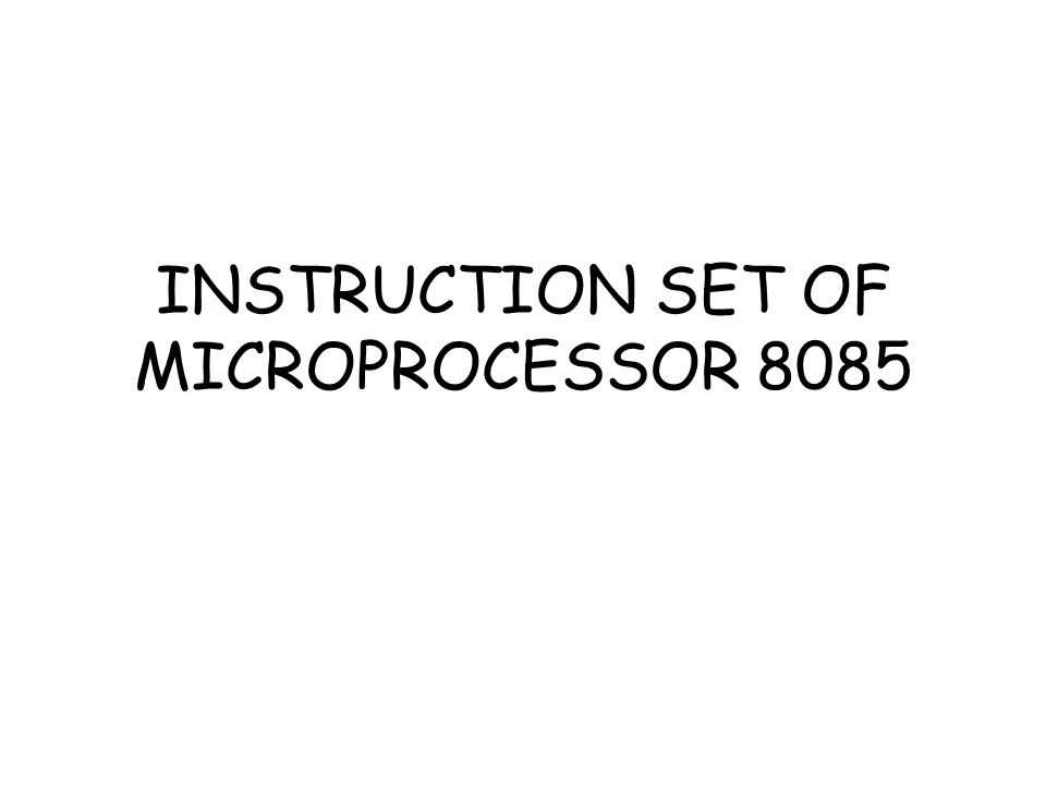 8051 Instruction Set - Microprocessors Questions and ...