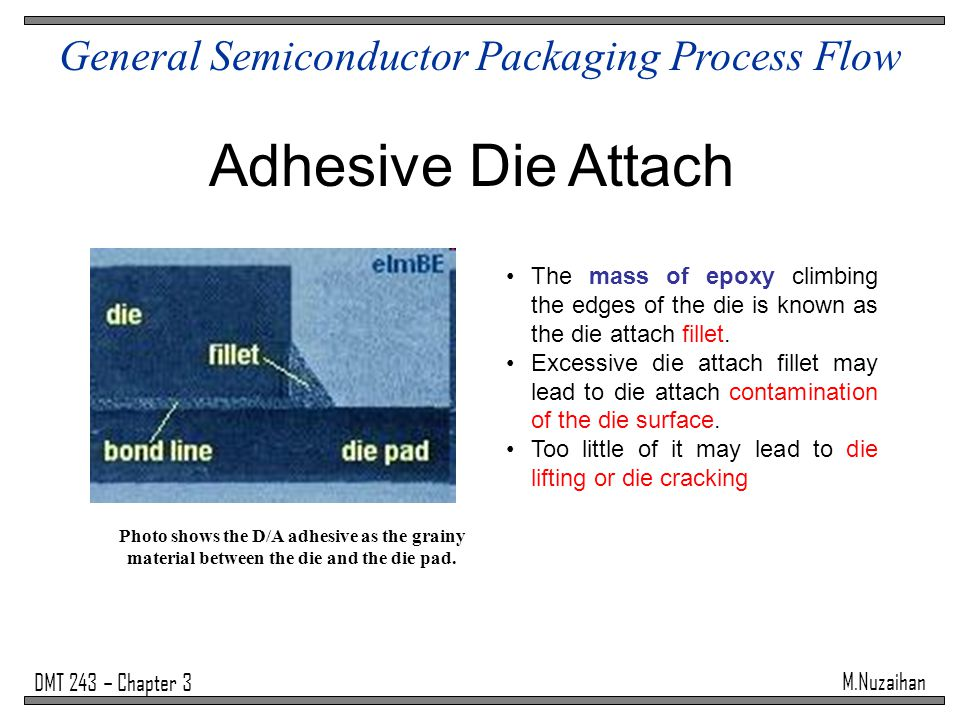 die attach and package reliability Eutectic die attach is a highly controlled die attach process for high reliability,   epoxy and eutectic die bonding, wafer scale packaging and flip chip processes.